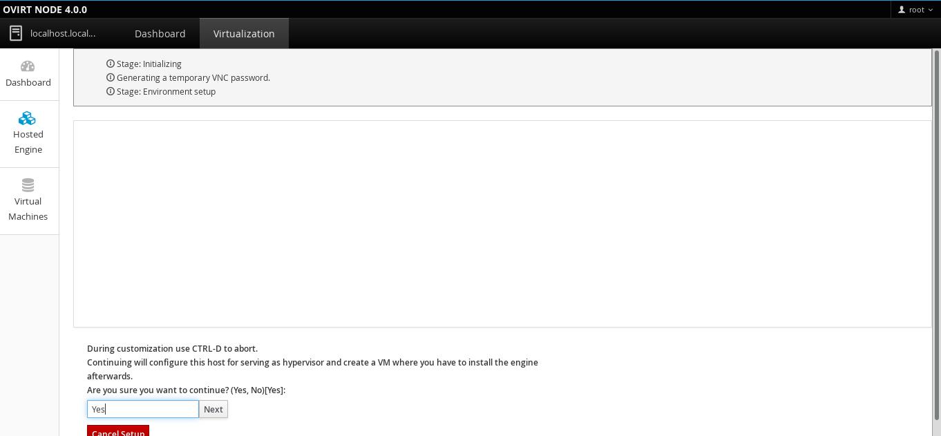 Step by Step: oVirt Node 4 0 Beta setup and Hosted Engine
